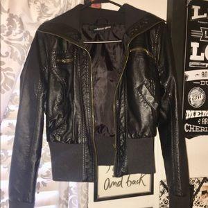 Jackets & Blazers - Leather cropped jacket
